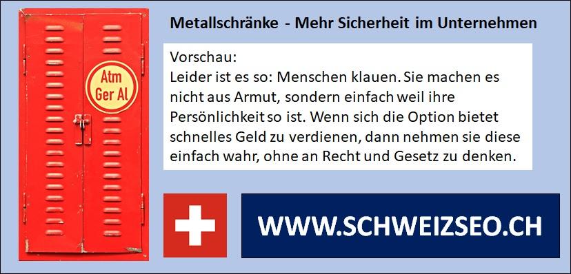 Metallschrank - Dokumente und Wertgegenstände im Unternehmen vor Diebstahl sichern